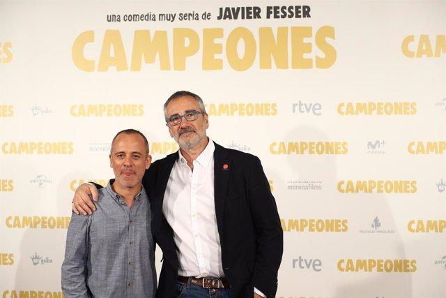 Photocall de la película Campeones con Javier Fesser y Javier Gutiérrez