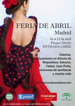 Cartel promocional de la Feria de Abril en Madrid