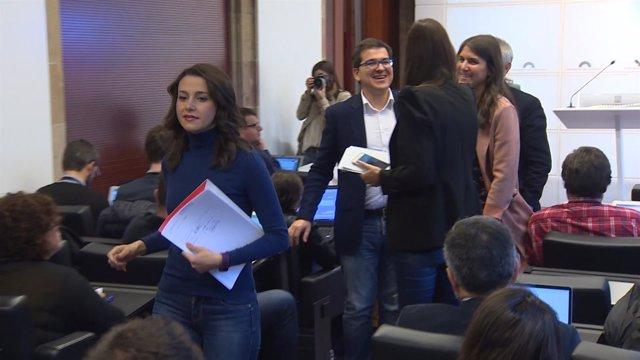 Declaraciones en rueda de prensa de la líder de Cs en Catalunya, Inés Arrimadas