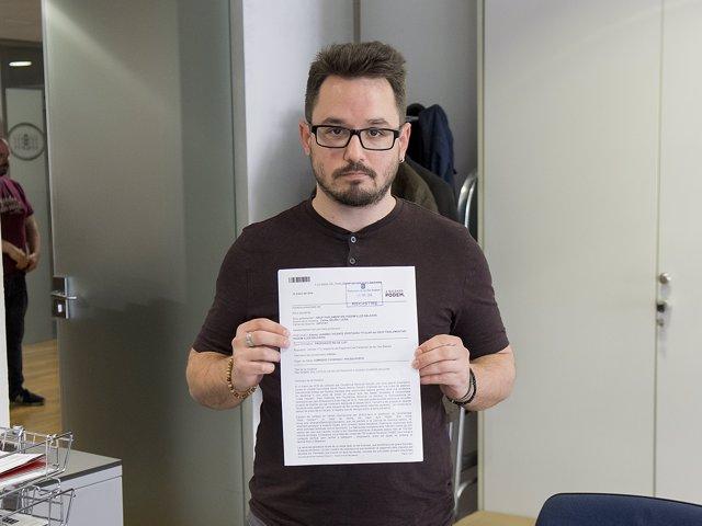 El diputado Carlos Saura registra la PNL sobre Falciani