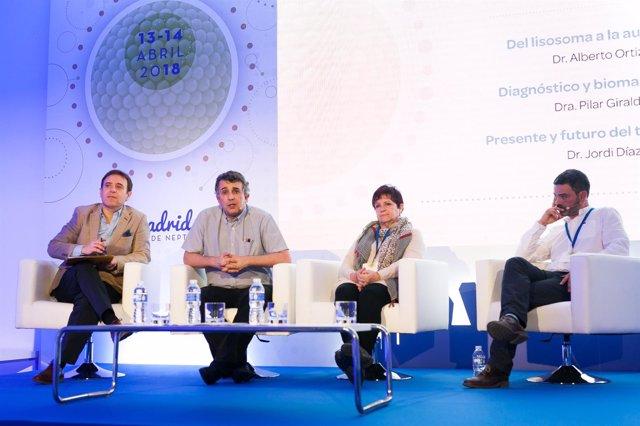 Dr. Miguel Ángel Torralba,  Dr. Alberto Ortiz, Dra. Pilar Giraldo, Dr. Jordi Día