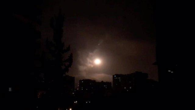 Lanzamientos de misiles en Damasco