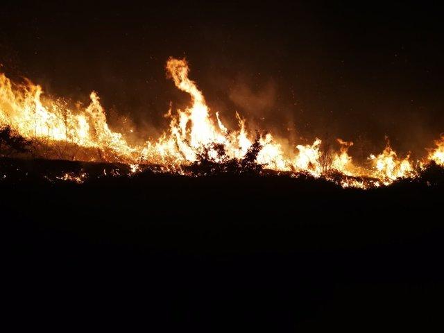 Incendios en San Mamede