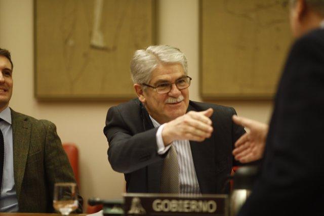 El ministro de Exteriores, Alfonso Dastis, comparece en el Congreso