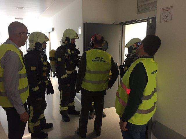 Ejercicio de activacion de plan de emergencia en el hospital de Ronda