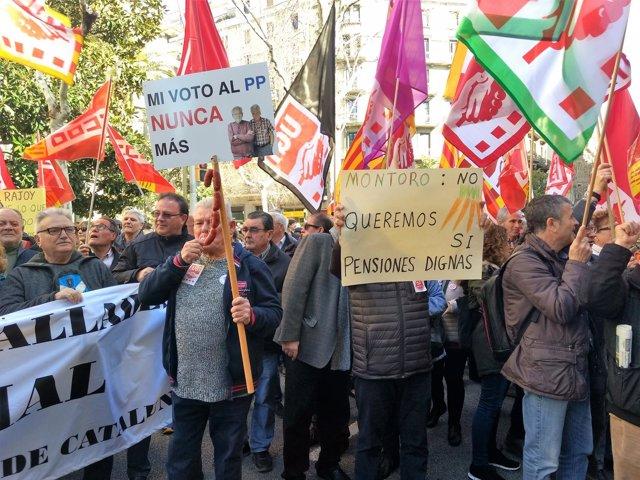 Manifestació de pensionistes a Barcelona