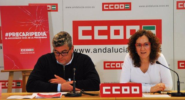 Nuria López, de CCOO-A, presenta el diccionario 'cool' de la precariedad