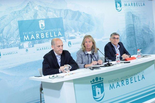 Rueda de prensa de la junta de gobierno local de Marbella