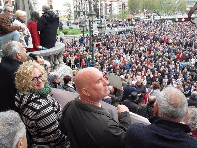 Jubilados y pensionistas en Bilbao