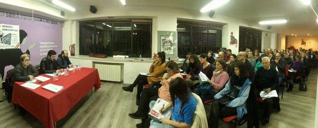 Reunión de miembros del Partido Comunista de Madrid