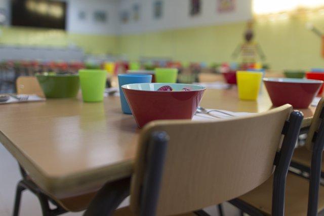 Col·legi, escola, primària, infantil, nen, nena, nens, menjador escolar