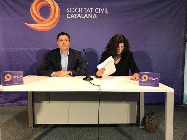 El president de SCC José Rosiñol i la vicepresidenta Miriam Tey