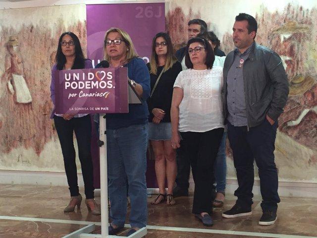 La cabeza de lista de Unidos Podemos al Congreso por Las Palmas