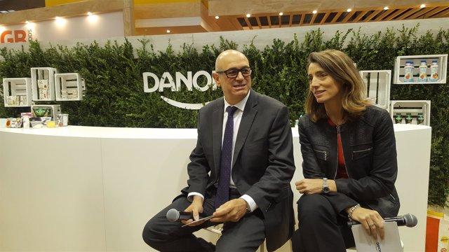 Jordi Miró y Cristina Kenz (Danone Iberia)