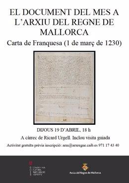 Documento del mes, Arxiu Regne de Mallorca