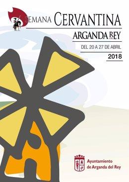 Cartel promocional de la Semana Cervantina de Arganda (16-4-2018)