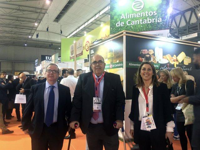 Oria visita a los productores cántabros presentes en Alimentaria 2018