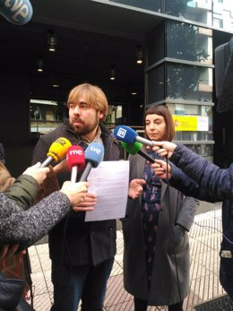 El secretario general de Podemos Asturies, Daniel Ripa