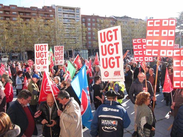 Concentración en Logroño defensa pensiones