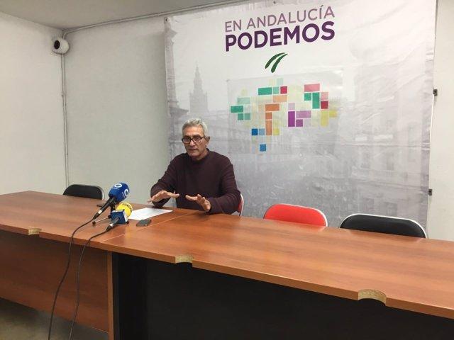El diputado de Unidos Podemos Diego Cañamero