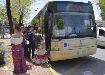 El autobús de Tomares a la Feria suma once ediciones anuales consecutivas