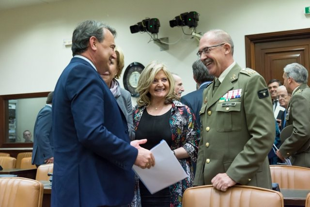 Agustín Conde y el JEMAD, general Fernando Alejandre