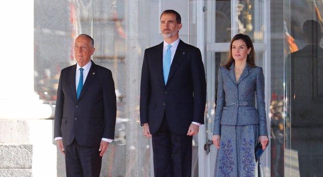 Los Reyes reciben al Presidente de Portugal,  Marcelo Rebelo de Sousa
