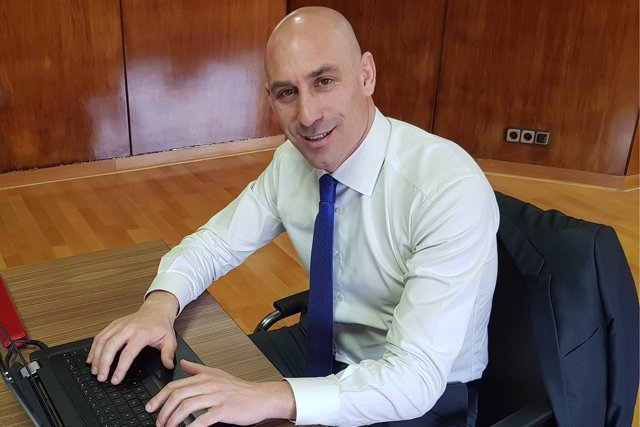 El candidato a la presidencia de la RFEF, Luis Rubiales