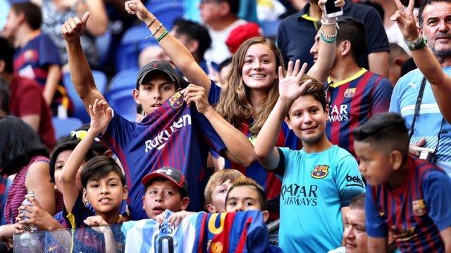 Aficionados afición Barcelona