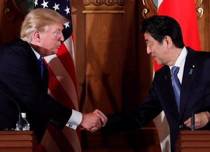 Trump y Abe buscarán un consenso sobre la desnuclearización de Corea