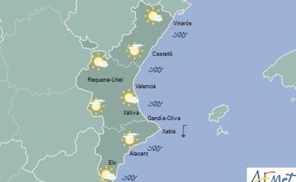 Cielos poco nubosos y temperaturas en ascenso este martes en la Comunitat Valenciana