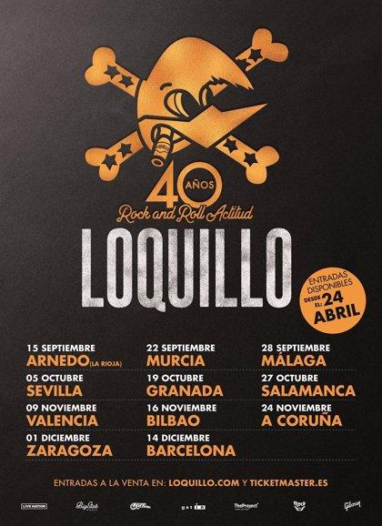 Loquillo anuncia los once conciertos de su gira 40 Años de Rock and Roll Actitud