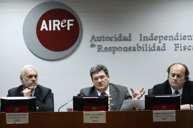 José Luis Escrivá y Marcos Bonturi presentan un estudio