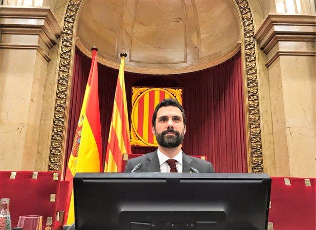 El presidente del Parlament de Catalunya, Roger Torrent