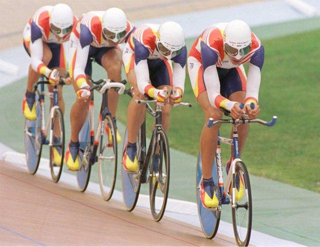 Equipo español de persecución de los Juegos de Atlanta'96