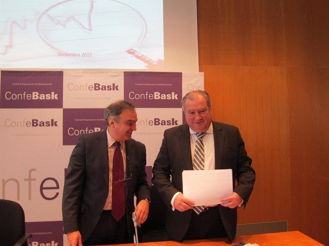 Roberto Larrañaga y Eduardo Arechaga (Confebask)