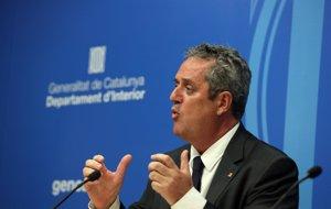 El exconsejero catalán de Interior Joaquim Forn en una rueda de prensa en agosto