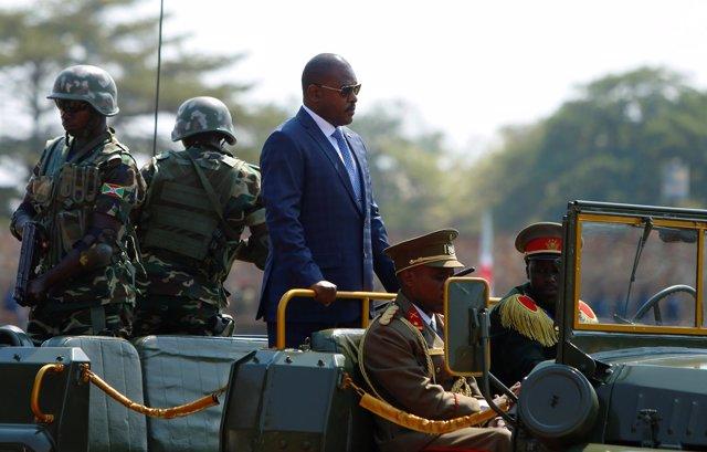 Foto de archivo del presidente Pierre Nkurunziza.