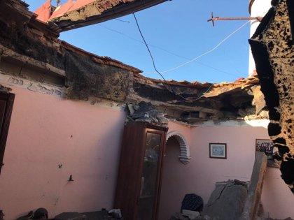 Cuatro familias desalojadas por el derrumbe del techo de un piso en Dos Hermanas