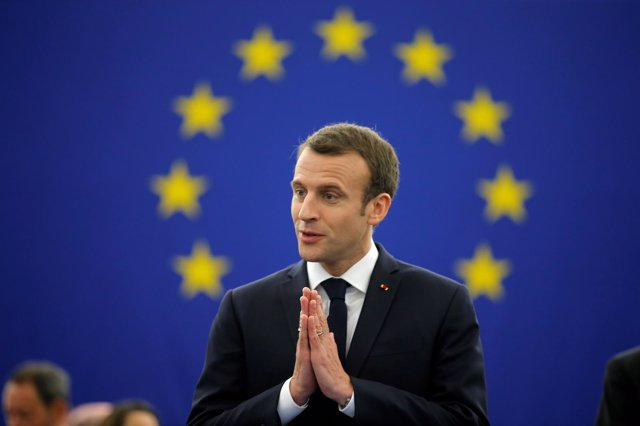 Emmanuel Macron interviene ante el Parlamento Europeo en Estrasburgo