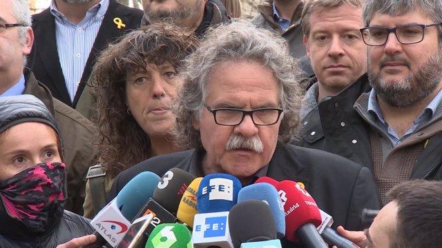 Tardà declara en la puerta de la Asamblea Nacional sobre los CDR