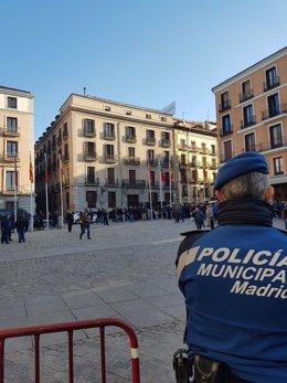 Concentración de Policías Municipales en Madrid