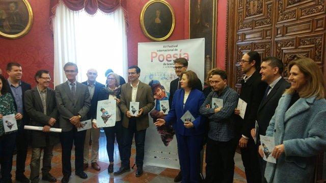 Presentación de la quince edición del Festival Internacional de Poesía