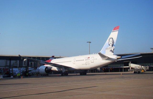 Boeing 787-800 o Dreamliner de Norwegian en Barcelona