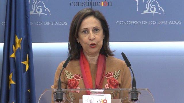 Margarita Robles declarando en el Congreso