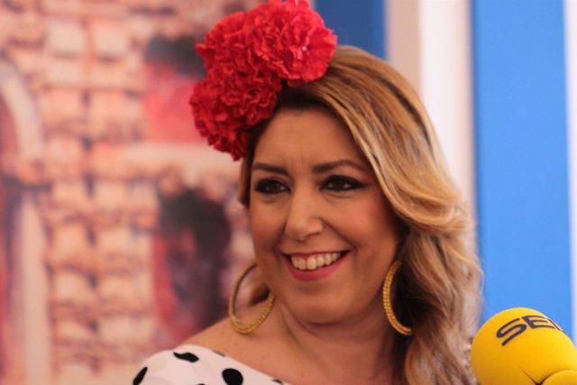 Susana Díaz, entrevistada en la SER en la Feria de Abril