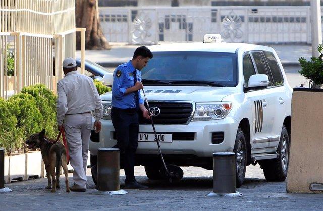 Llegada a Damasco de los inspectores de la OPAQ