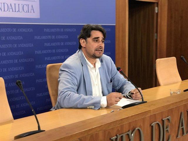 El diputado de Podemos en el Parlamento de Andalucía Juan Moreno Yagüe