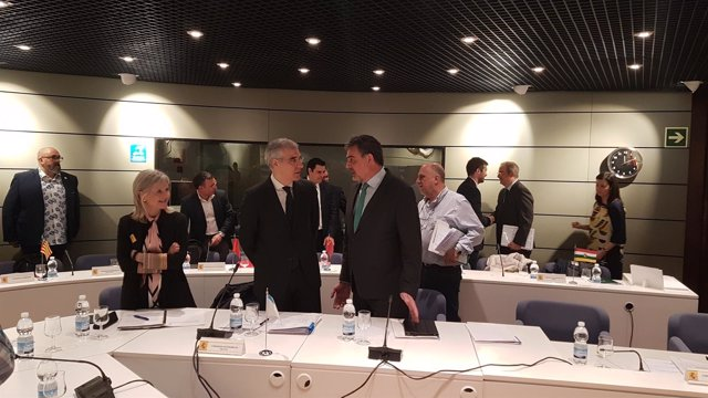 Francisco Conde, conselleiro de Empleo, en la sectorial de Madrid