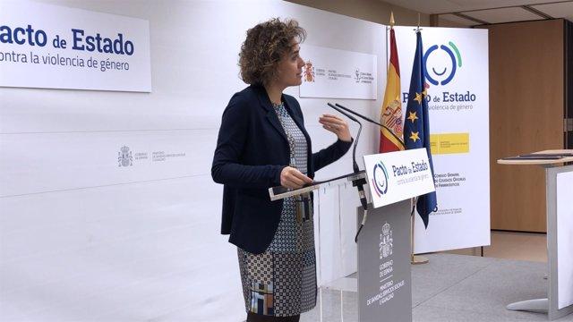 La ministra de Sanidad, Dolors Montserrat, en un acto contra violencia de género